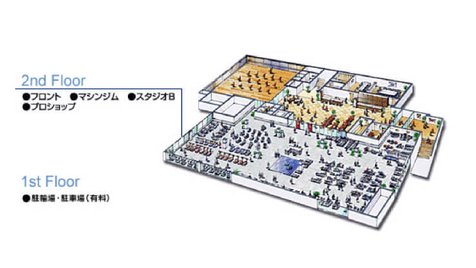 吉祥寺店のフロアガイド2
